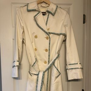 Coach trench. Perfect for spring! Teal accents!
